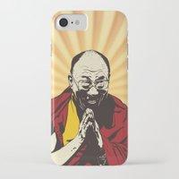 lama iPhone & iPod Cases featuring Dalai Lama by ArDem