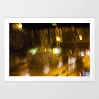Rainy Lights Art Print