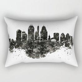 Cincinnati Skyline Black and White Rectangular Pillow