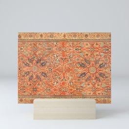 Antique Persian Sultanabad Rug Print Mini Art Print