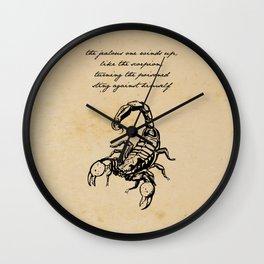 Friedrich Nietzsche, The Scorpion Wall Clock