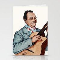django Stationery Cards featuring Django Reinhardt by Daniel Cash