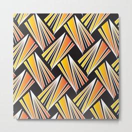 African Tribal Pattern No. 92 Metal Print