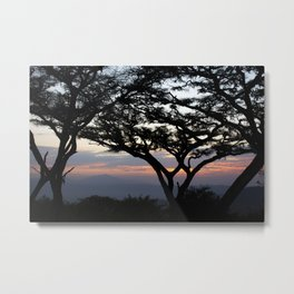 sunset over Ngorongoro Crater, Tanzania, Africa Metal Print