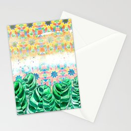 Plants and Tiles Stationery Cards