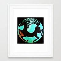 horse Framed Art Prints featuring Horse by Abundance