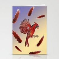 cardinal Stationery Cards featuring Cardinal by Jody Edwards Art