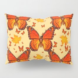 AUTUMN LEAVES & MONARCH BUTTERFLIES ART Pillow Sham