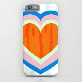 heart of love, orange iPhone Case