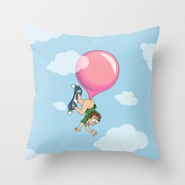 Don't Swallow Your Bubble Gum Throw Pillow