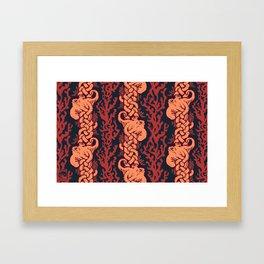 Warm Octopus Reef Framed Art Print