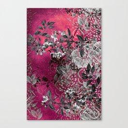 Pink Chinese Silk Canvas Print