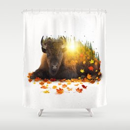 Equinox | Buffalo Shower Curtain