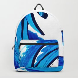Pure Water 312 - Blue Abstract Art By Sharon Cummings Backpack