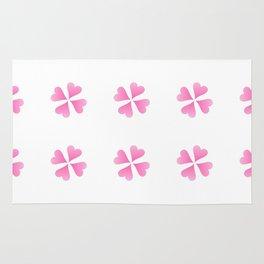 heart 10 – Heart flower –  Pink 2 Rug