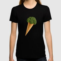 broccoli ice cream Black SMALL Womens Fitted Tee