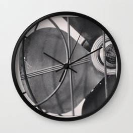 Black And White Vintage Handybreeze Fan Wall Clock
