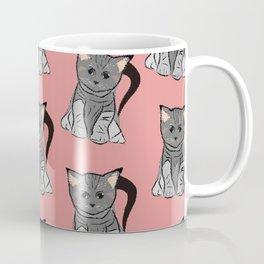 Sweet cats on pink background Coffee Mug