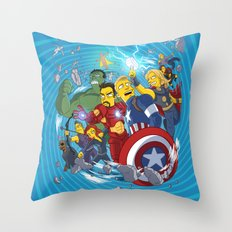 Superheroes Throw Pillow