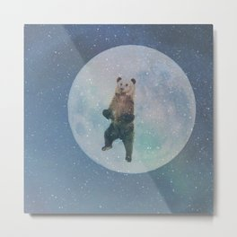 Bear Moon Metal Print