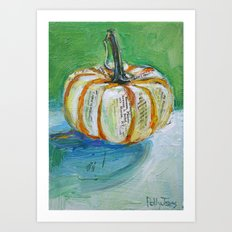 Circus Pumpkin Art Print