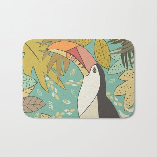Forest Toucan  Bath Mat