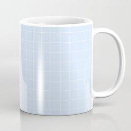 Powder Blue and White Grid Pattern Coffee Mug