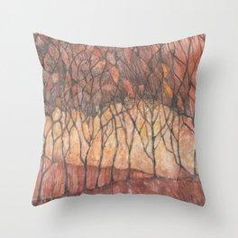 Arboles de otoño (Autumn trees) Throw Pillow