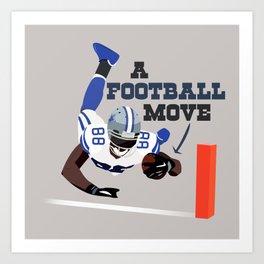 A Football Move - Dez Bryant Art Print