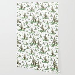 Trees on White Wallpaper