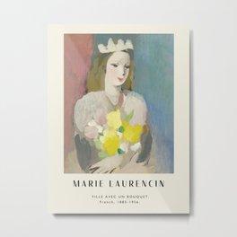 Poster-Marie Laurencin-Fille avec un bouqet. Metal Print