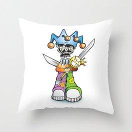 skull clown Throw Pillow