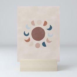 Abstract Moon Phases Mini Art Print