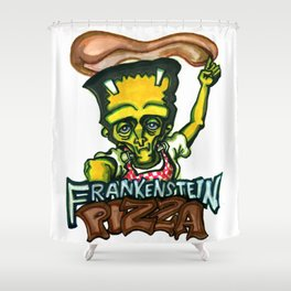 Frankenstein Pizza Shower Curtain