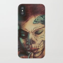 Skull Girl iPhone Case