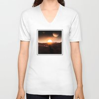onward V-neck T-shirts featuring Onward by spenzbow