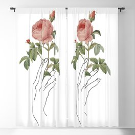 Hand and Rose Blackout Curtain