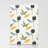 floral pattern Stationery Cards featuring Floral Pattern by Mark Conlan