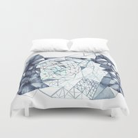 indigo Duvet Covers featuring Indigo by the tiny totem