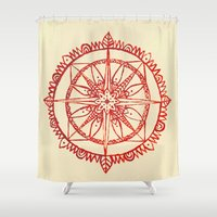 wander Shower Curtains featuring Wander by Samantha Crepeau