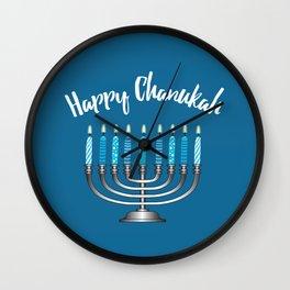 Happy Chanukah Wall Clock