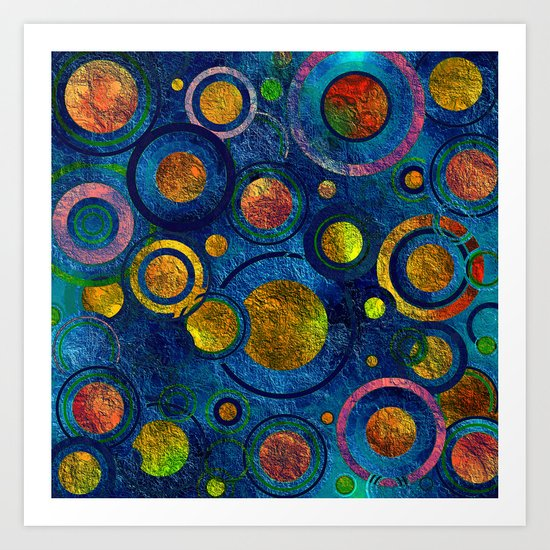 Full of Golden Dots - color variation Art Print