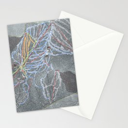 Northstar Resort Trail Map Stationery Cards