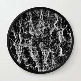 Lava cascade in black and white Wall Clock