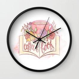 COFFEE & BOOKS Wall Clock