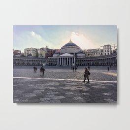 Piazza del Plebiscito, Napoli, Italy Metal Print