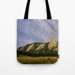Starry Flatirons Tote Bag