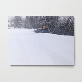Winter Streets Metal Print