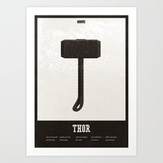 Thor - minimal poster Art Print