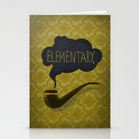 sherlock Stationery Cards featuring sherlock by serbangabriel